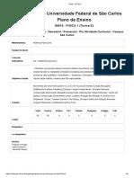 Plano de ensino 99015 Fisica 1 Turma E Semestral 2019