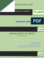 GERENCIAMENTO DE OBRAS  AULA 05  17-03-21
