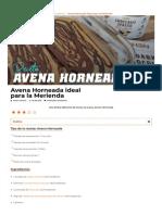 Avena Horneada - Una forma diferente de tomar la avena pero riquísima