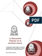 Educacion Popular en el contexto actual. Estudiantes de Trabajo Social