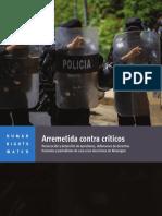 Informe de Human Rights Watch sobre Nicaragua