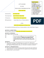 Bill Template and Directions (Spring 2011)- Brennan
