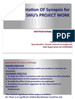 Presentation OF Synopsis for SMU's PROJECT WORK