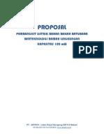 PROPOSAL PEMBANGKIT LISTRIK 100 MW