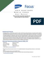 ATT SGH-I917 Cetus Focus English User Manual