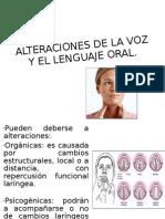 ALTERACIONES DE LA VOZ Y EL LENGUAJE ORAL. respi