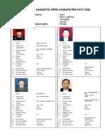 PROFIL ANGGOTA DPRD KABUPATEN PATI 2009 DP 1