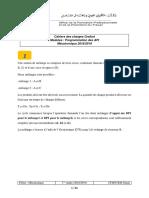 Cahiers des charges Programmation des API