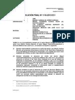 RESOLUCIÓN FINAL Nº 1118-2013/CC1