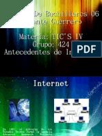 Antecedentes Internet