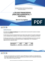 Analisis Financieros (Analisis Horizontal y Vertical)  norma