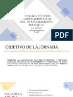 SOCIALIZACIÓN FASE PLANIFICACION ANUAL DEL PLAN DE MEJORAMIENTO EDUCATIVO (2)