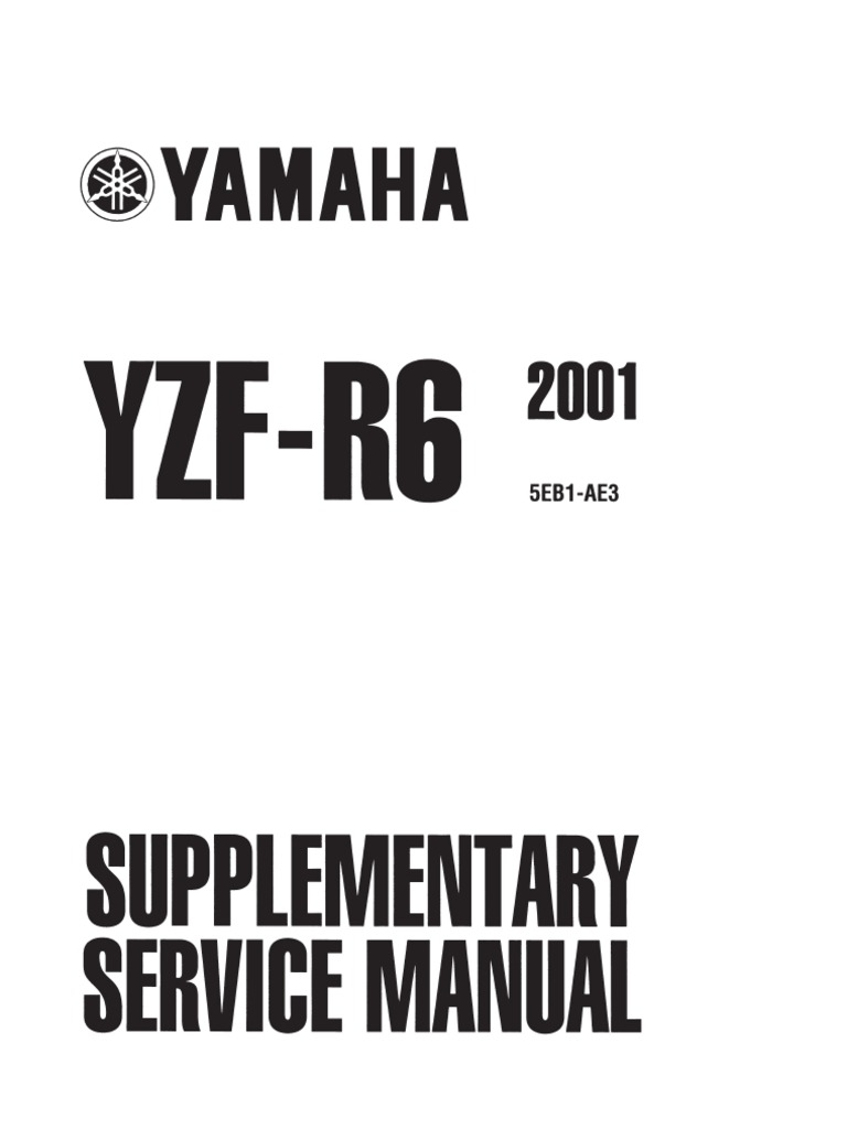 2001 R6 Supp Manual Ignition System Tire