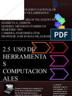 2.5 HERRAMIENTAS COMPUTACIONALES
