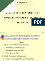 Chapitre 4 - Analyse de la rentabilité, du risque économique et du risque financier (3)