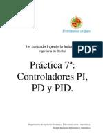 practica de controladores PD, PI, PDI