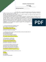 Evaluación Comprensión 3 Medio Con Respuestas Fila B-1