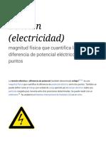Tensión (Electricidad)