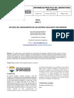 Informe Estudio Del Movimiento de Un Sistema Oscilante Por Energía