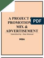 Promotion mix &  advertising
