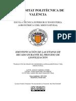 CABRERA - Identificación de las etapas de secado durante el proceso de liofilización