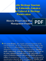 Sustainable Heritage Tourism Model For Falmouth, Jamaica