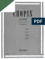 CHOPIN Valzer Per Pianoforte Valzer Del Cagnolino 64.1.6