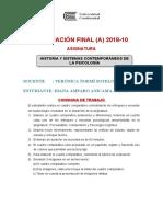 Historia y Sistemas Contemporáneos de La Psicología-examen Final