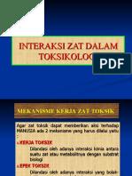 Interaksi zat Toksik