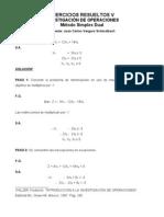 Ejercicios Resueltos 5, Metodo Dual
