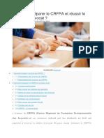 Guide de préparation du CRFPA et réussir le concours d'avocat