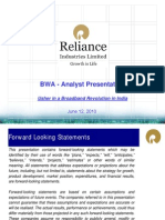 RIL - BWA Analyst Presentation - Jun 2010