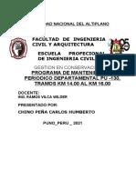 MANTENIMIENTO DE VIAS YUNGUYO