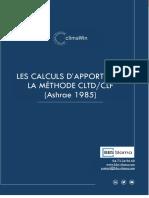 Apports - Calcul Par La Methode Cltd-clf 1985