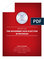 Senate Committee finds 'no evidence' of voter fraud in Michigan during 2020 election