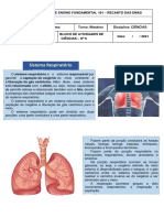Sistema Respiratório - PDF Ciências 6º Ano - Cópia