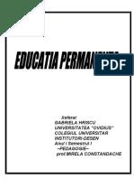 Educatia permanenta