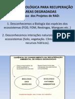 PPGEA 2015  PARTE 3  ESTRATÉGIA ECOLÓGICA PARA RECUPERAÇÃO DE ÁREAS DEGRADADAS (1)