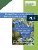 Lista de Nome Judaico-Sefarditas Luso-Brasileiros