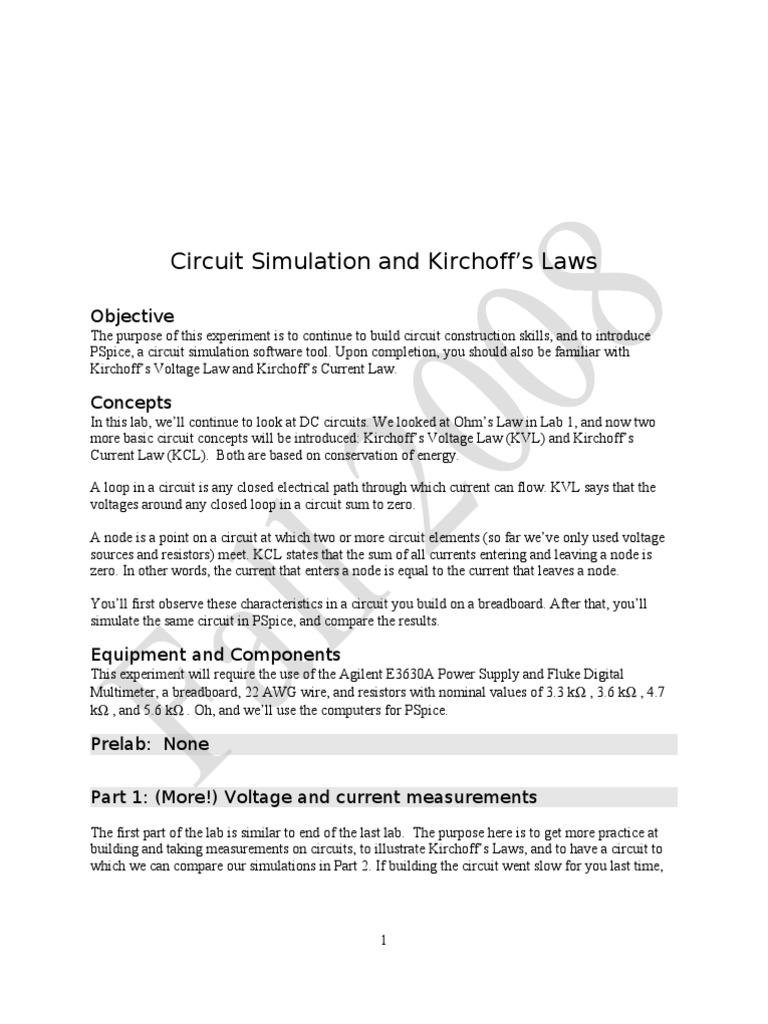 Circuit Simulation Electrical Network Resistor Circuitsimulationsoftware