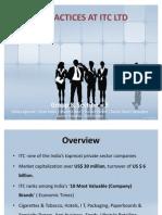 HR PRACTICES AT ITC LTD1