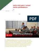 DILIGENCIAS PRELIMINARS -JURISPRUDENCIA
