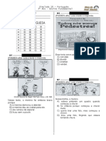 Simulado 18 (L. P - 3º Ano) - Blog Do Prof. Warles