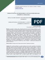 FORMAÇÃO INICIAL DE PROFESSORES E O ESTÁGIO SUPERVISIONADO