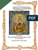 8 de Julio. Santa Isabel de Portugal, reina y viuda. Guía de los fieles para la santa misa cantada. Kyrial  De Angelis