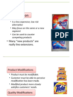 Managing Existing Products