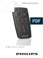 Manual Controle Remoto Universal Philips SRP2003-55