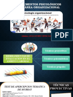 pruebas psicologicas en el area organizacional