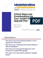 mySAP ERP Upgrade Plan