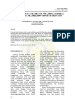 estimasi kurkumin dengan spektrofotometri derivatif